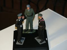 1/16 scale Panzer officers. L-R Hermann Goering Panzer Division, Grossdeutschland Panzer Division, 7th Panzer Division