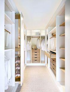 Walk In Closet Design, Bedroom Closet Design, Closet Designs, Bedroom Storage, Small Walk In Wardrobe, Small Walking Closet, Small Walk In Closet Ideas, Walking Wardrobe Ideas, Walk In Closet Inspiration