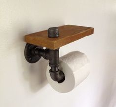 Toilet Paper Holder – Reclaimed Wood Pipe