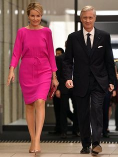 10/14/16*Queen Mathilde and King Philippe attend a concert in Osaka, Japan