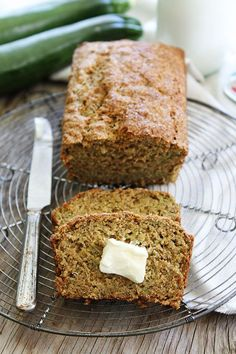 Zucchini Banana Bread Recipe - This easy and healthy quick bread is a favorite! You get zucchini bread and banana bread in one loaf!
