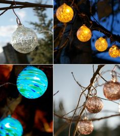 aurora glow*solar string lights... beautiful little glowing orbs... i love these <3