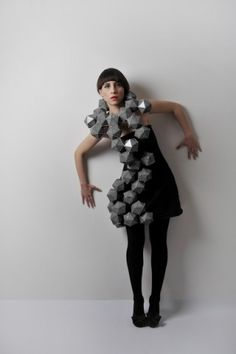 Fashion + geometry + paper = stunning collection of dresses by designer Amila Hrustic