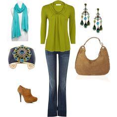 love the chartreuse and aqua