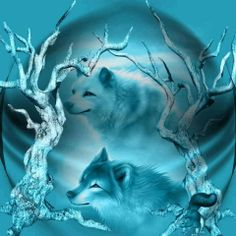 Beauty In Blue - Fantasy Wallpaper ID 1389135 - Desktop Nexus Abstract Wolf Photos, Wolf Pictures, Beautiful Wolves, Animals Beautiful, Wolf Mates, Wolf Artwork, Wolf Spirit Animal, Wolf Wallpaper, Wolf Love