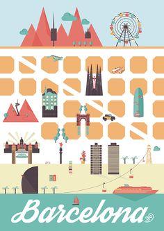 Ilustración Barcelona #GraphicDesign #DiseñoGrafico #illustration