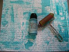 ten thirty-six arts and crafts ... ellen vargo: Ranger Abstract Tutorial - love this background with brayer