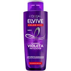 Nourishing hair and neutralising brassy tones, L'Oreal Paris Elvive Colour Protect Anti-Brassiness Purple Shampoo is an exciting new haircare treatment for col Lila Shampoo, Purple Shampoo, Shampoo And Conditioner, Grey Blonde Hair, Blonde Hair Looks, White Hair, Purple Toner, Color Correction Hair, Coloured Hair