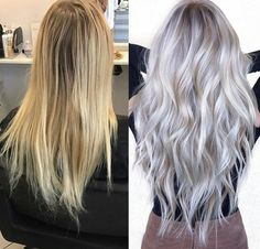 Gray/grey white platinum blonde hair: PERFECT
