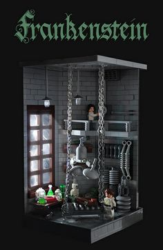 Lego Frankenstein by Xenomurphy.  See more at The Year's Best Blog Posts http://lilywight.com/2013/10/26/lego-horror/