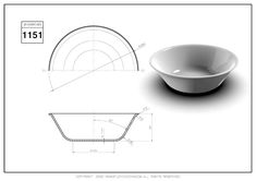 3D CAD EXERCISES 1151 - STUDYCADCAM Basic Sketching, Technical Drawing, Autocad, Decorative Bowls, 3d, Product Design, Drawings, Exercises, Glass