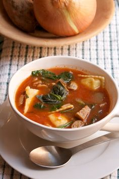 Chicken Sausage & Ravioli Soup Recipe on Yummly