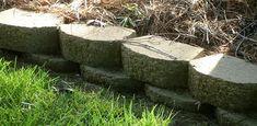 Build a raised bed around trees  using retaining wall blocks or stacked flagstone