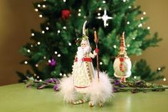 Patience Brewster Krinkles Candle Light Santa Claus Christmas Ornament by Patience Brewster