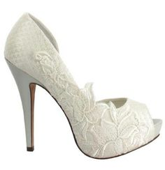 Morgan Hill Designs.  Plain pair of pumps with embellishment added. #hot
