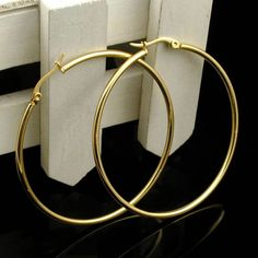 Big Hoop Earrings - Would love to have a pair of these, not sure if they would be better in Silver