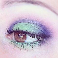 Applying Eye Make-up.