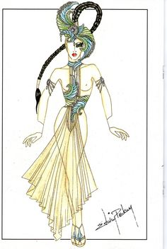 Lido de Paris Costume design by Edwin Piekney ' Illusions'