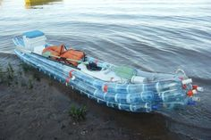 Boat Made of Plastic Bottles | boat made out of repurposed plastic soda bottles