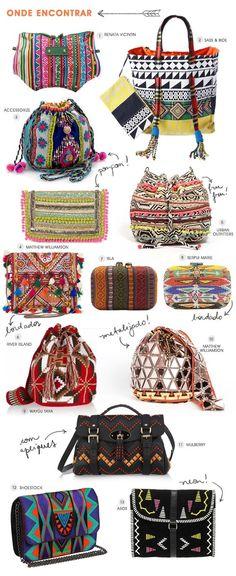 "bag - handbag - ""fresh gypsy (Search results for: Bohemian chic)"", ""Melange of Ethnic boho tribal bags"", ""So many hippie bags ♥️♥️♥️♥️♥️"", ""Amazin Boho Hippie, Estilo Hippie, Boho Gypsy, Hippie Style, Bohemian, Gypsy Chic, Fashion Bags, Boho Fashion, Fashion Accessories"