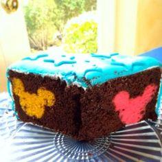 Rainbow Hidden Mickey Cake