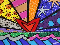 Romero Britto - New Love - Eden Fine Art Gallery