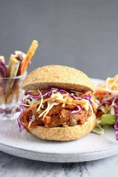 Vegan Eggplant Pulled Pork Burger (GF)
