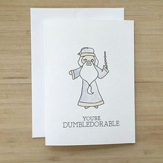 Check out our pun card selection for the very best in unique or custom, handmade pieces from our greeting cards shops. Harry Potter Birthday Cards, Harry Potter Cards, Harry Potter Love, Harry Potter Painting, Harry Potter Drawings, Cute Puns, Pun Card, Painting Quotes, Diy Cards