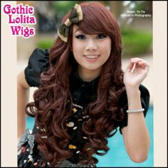 GLW Long Curly Lolita Wig in Dark Brown
