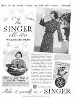 Singer All-Star Wardrobe Plan 1936 Ad Picture
