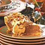 Pumpkin Pie with Maple Cream and Sugared Pecans Recipe, MyRecipes.com