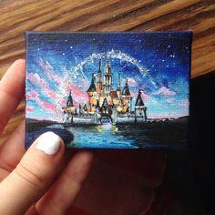 Art Disney drawing discovered by Mielletanne✿ Small Canvas Paintings, Small Canvas Art, Mini Canvas Art, Cute Paintings, Acrylic Painting Canvas, Disney Art, Toile Disney, Disney Drawings, Art Drawings