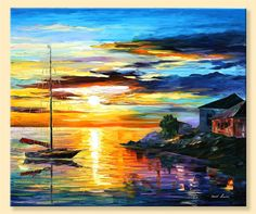 Sicily, Messina — Limited Edition Italy Wall Art Decor Print On Canvas By Leonid Afremov.