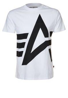 Camiseta estampada - weiß schwarz 9696a53823f