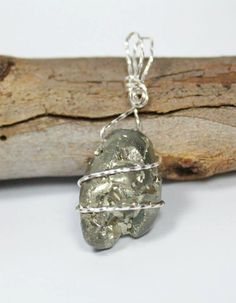 Pyrite Wire Wrapped Protection Pendant