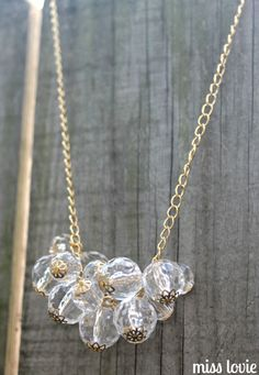 DIY Baubles and Bead Necklace... pretty :)