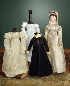 """""""For the Love of the Ladies"""" - October 1-2, 2016 in Phoenix, AZ: 129 Early and Rare French Carton Moule Lady Doll with Fine Early Trousseau"""