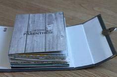 Le temps d'une parenthèse ... Mini Album Scrap, Mini Albums Scrapbook, Scrapbook Cards, Journal Paper, Pocket Letters, Album Book, Diy Box, Book Making, Bookbinding