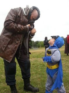 Bane and little Batman