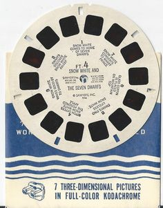 Snow White and The Seven Dwarfs View-Master Reel by COLLECTORSCENTER on Etsy