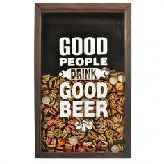 Quadro Porta-Tampinhas Good People Beer   Fábrica9
