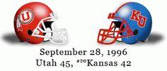 The Greatest Utah Football Games Ever: September 28, 1996 - Utah vs. Kansas