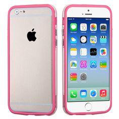 MYBAT Hybrid Bumper iPhone 6 Case - Pink/Transparent Clear