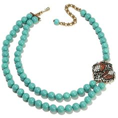 """Heidi Daus """"Simply Irresistible"""" 2-Row Beaded Necklace  On HSN, four different colors and enhancers."""