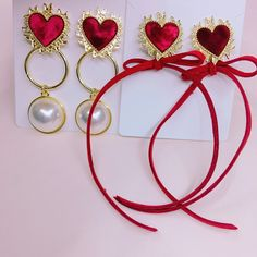 🍓sydneyroyy🍓 Kawaii Accessories, Kawaii Jewelry, Cute Jewelry, Jewelry Accessories, Fashion Wear, Fashion Jewelry, Heather Chandler, Earring Box, Unique Earrings