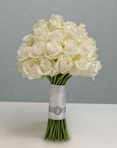 Brautsträuße Creme und Weiß