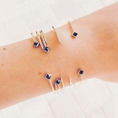 Stephanie Karen Jewels / Sapphire and diamond cuff