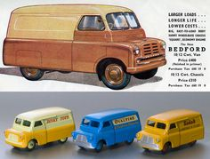 dinky toys - Bing Images Bedford Van, Bedford Truck, Classic Trucks, Classic Toys, Retro Toys, Vintage Toys, Eddie Stobart Trucks, Toy Catalogs, Trucks