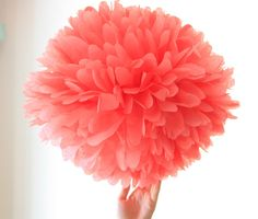 Korallen-Hochzeit Dekoration  1 Gewebe Pompom Blume... von pomtree