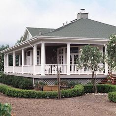 "I think adding the round colonial like columns to a traditional exterior floor plan is what makes the home inviting! As a child, and still to this day my inner child screams ""old romantic southern charm"".....When I see those columns on a home I think about sipping sweet tea and rocking in a chair while my kids run and play."